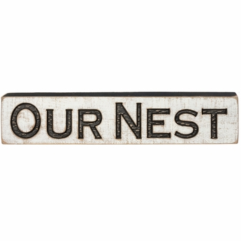 Carved Sign - Our Nest