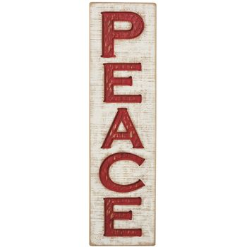 Carved Sign - Peace