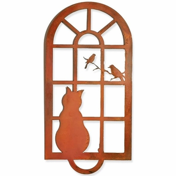 Cat in the Window Metal Wall Art