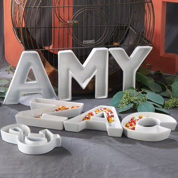 Ceramic Letter Candy Dishes