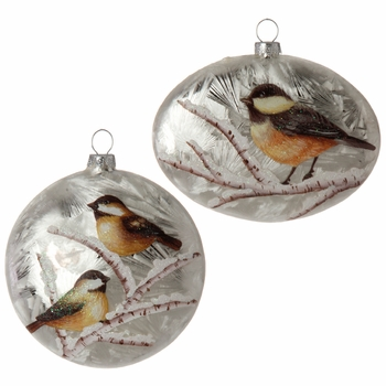 Chickadee Disc Ornament