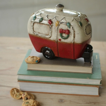 Christmas Camper Canister