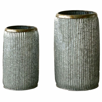 Clayton Metal Planters (Set-2)