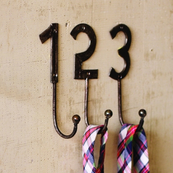 Metal Number Hooks -CS