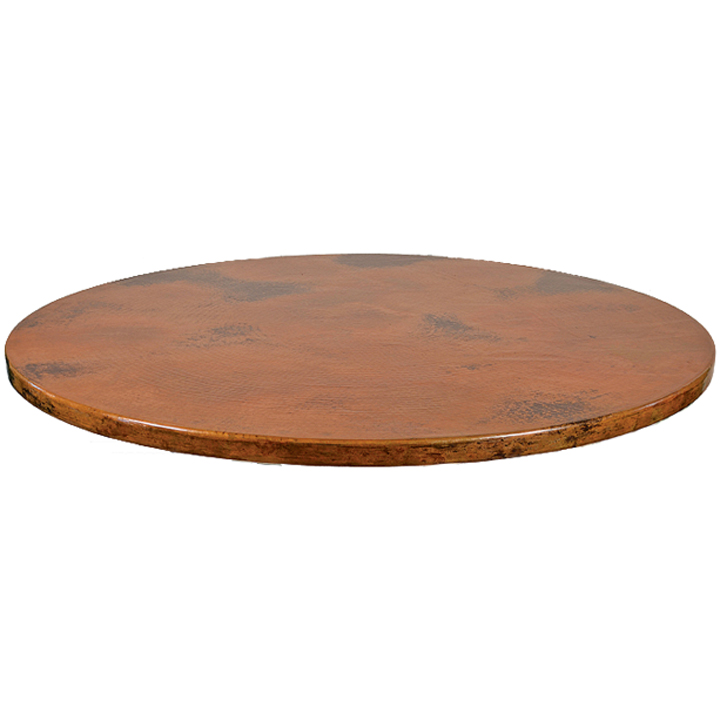 Copper Table Top Oval 42 Quot X 72 Quot Iron Accents