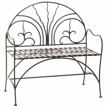 Courtyard Iron Bench