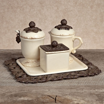 Creamer/Sugar Set (3-piece)