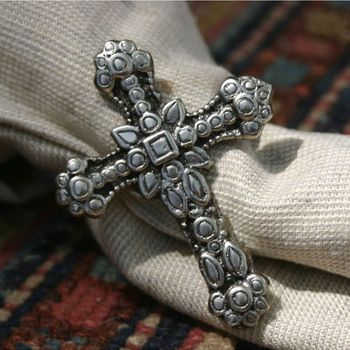 Cross Napkin Ring (Set-4)