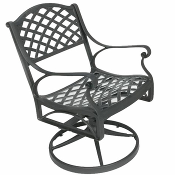 Crossweave Swivel Chair