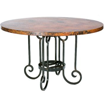 Curled Leg Dining Table w/ Top