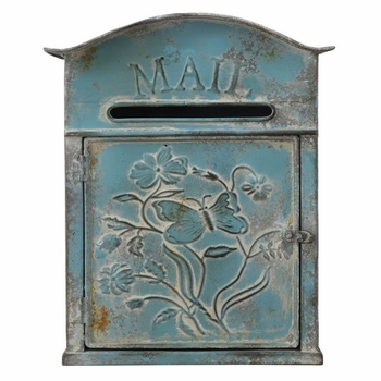 Distressed Blue Mail Box