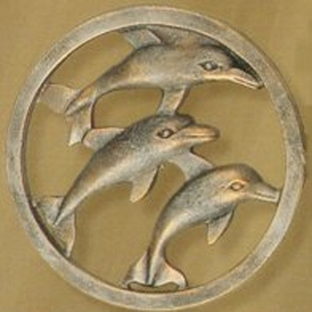Dolphin Medallion Scarf Holders
