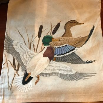 Duck Hand Painted Runner