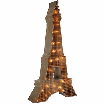 Eiffel Tower Lighted Sign