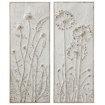 Embossed Flower Plaques (Set-2)