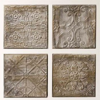 Embossed Tin Tile Grouping