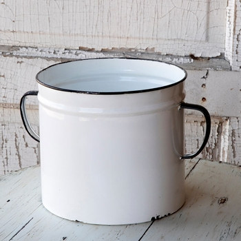 Enamel Painted Can Planter