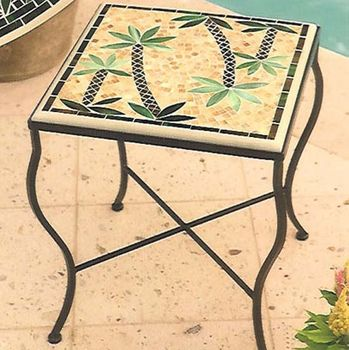 Mosaic End Table - Square 14""