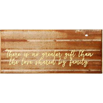 Family Love Steel Wall Plaque