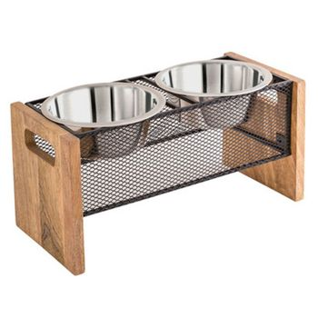 Farmhouse Double Pet Feeder