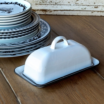 Farmhouse Enamelware Butter Dish
