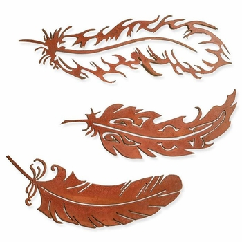 Feathers Metal Wall Art (3-Styles)