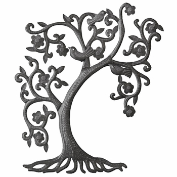 Filigree Tree w/3D Birds