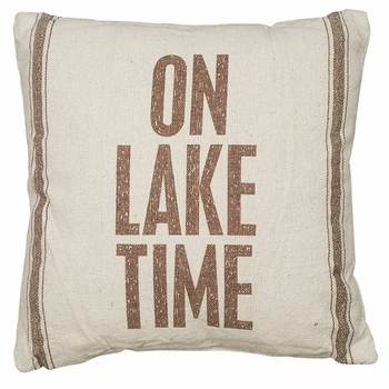 Flour Sack Pillow - Lake Time