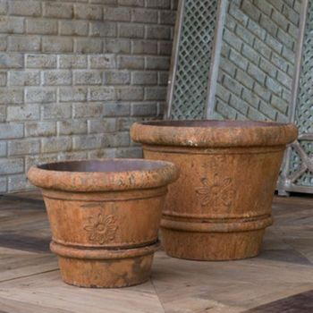 Flower Medallion Pots (Set-2)