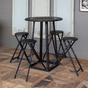 Foldable Bistro Table w/4 Stools