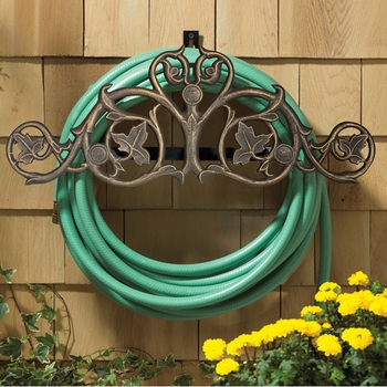 Foliate Wall Mounted Hose Holder