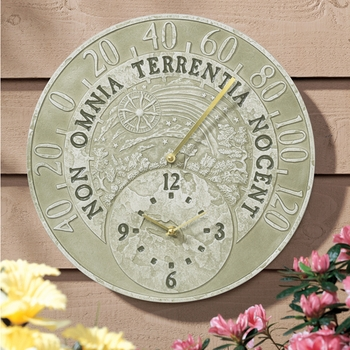 Fossil Thermometer Clock