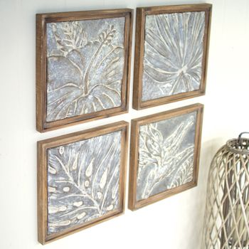 Framed Tropical Tiles (Set-4)