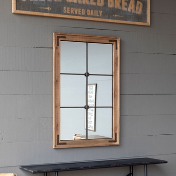 Framed Warehouse Window Mirror