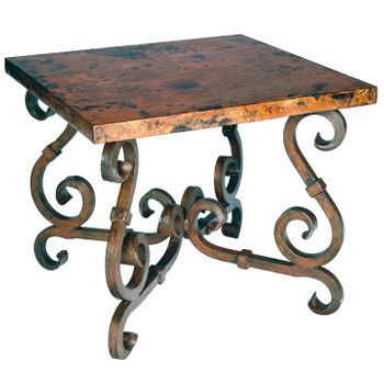 French Square End Table w/ Top