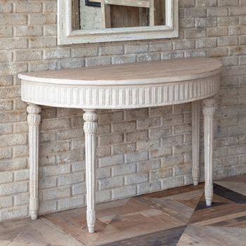 French-Style Half Round Table