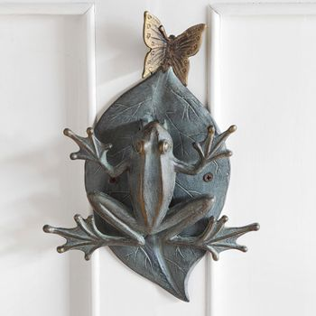 Frog and Butterfly Doorknocker