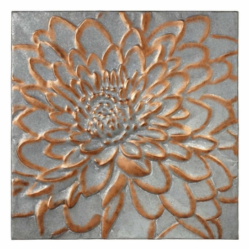 Copper Trimmed Floral Relief