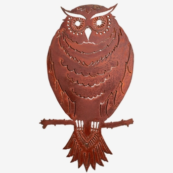 Garden Owl Metal Art