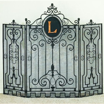 Gate Design Monogram Fire Screen