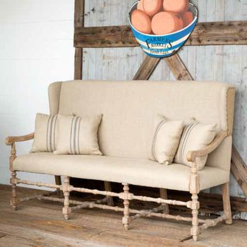 Gentry Settee with Pillows