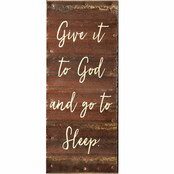 Give it to God Metal Wall Sign