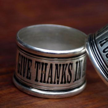 Give Thanks Napkin Rings (Set-4)