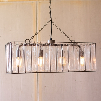 Glass Chime Rectangular Pendant