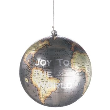 Globe Ornament 4in