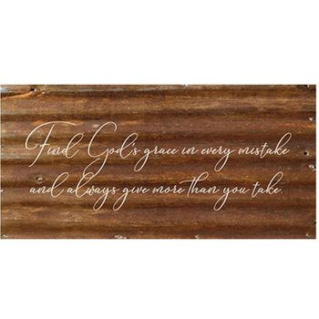Gods Grace Reclaimed Wall Sign