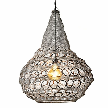 Hand-Woven Wire Chandelier