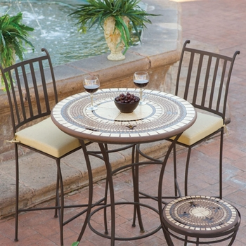 """Mosaic High Dining Table - 30"""""""