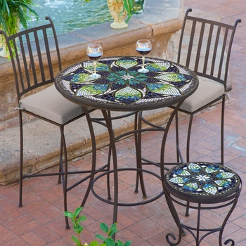 """Mosaic High Dining Table - 36"""""""