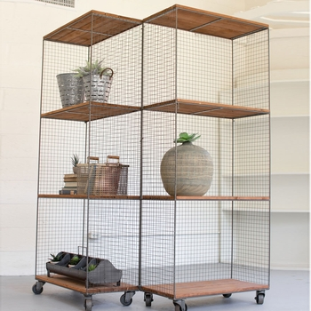 Hinged Shelving Units On Casters